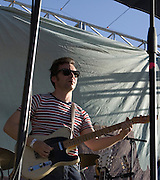 Guitarist Naim Amor performs with Calexico during their headliner concert at Fiesta en el Barrio Viejo 2010, Tucson, Arizona.