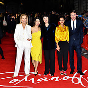 Marthe Keller ,Jing Lusi, Adele Anderson, Ines Melab and Hugh Skinner attend The Romanoffs - World Premiere at CURZON MAYFAIR, London, Uk. 2nd October 2018.
