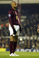 Photo: Chris Ratcliffe.<br />Arsenal v West Ham. Barclays Premiership. 01/02/2006.<br />Arsenal's Thierry Henry is gutted.