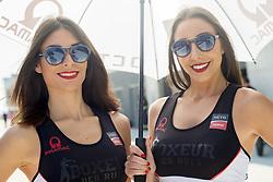 September 23, 2017 - AlcañIz, Teruel, Spain - Grid girl in pit line of the Gran Premio Movistar de Aragon, Circuit of Motorland, Alcañiz, Spain. Saturday, 23rd september, 2017. (Credit Image: © Jose Breton/NurPhoto via ZUMA Press)