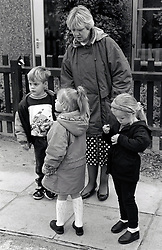 Children at infants school, Nottingham UK 1992