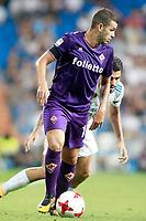 Real Madrid's Dani Ceballos (r) and ACF Fiorentina's Valentin Eysseric during Santiago Bernabeu Trophy. August 23,2017. (ALTERPHOTOS/Acero)