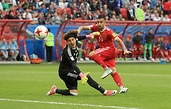 Russia's Alexander Samedov scores his side's second goal of the game which is disallowed