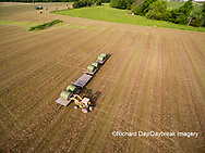 63801-10910 Loading hay bales in field -aerial Marion Co. IL