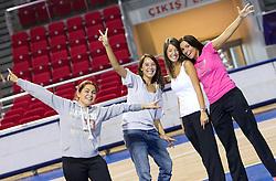 Girls in Abdi Ipekci Arena - Abdi Ipekci Spor Salonu na Ulasim two days prior to the 2010 FIBA Basketball World Championship, on August 26, 2010, in Istanbul,Turkey. (Photo by Vid Ponikvar / Sportida)