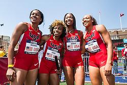 Penn RelaysPenn Relays, USA vs the World, women's 4 x 400 relay, USA women's 4 x 400 relay team, Young, McGrone, Hooker, Whitney