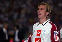 Fotball<br /> Frankrike 2003/04<br /> Cupfinale<br /> Paris Saint Germain v Chateauroux<br /> 29. mai 2004<br /> Foto: Digitalsport<br /> NORWAY ONLY<br /> FREDERIC DEHU IN CRY AFTER HIS LAST PSG'S GAME