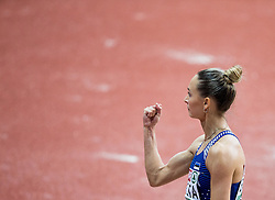 Ksenija Balta of Estonia competes in the Long Jump Women Qualification on day two of the 2017 European Athletics Indoor Championships at the Kombank Arena on March 4, 2017 in Belgrade, Serbia. Photo by Vid Ponikvar / Sportida