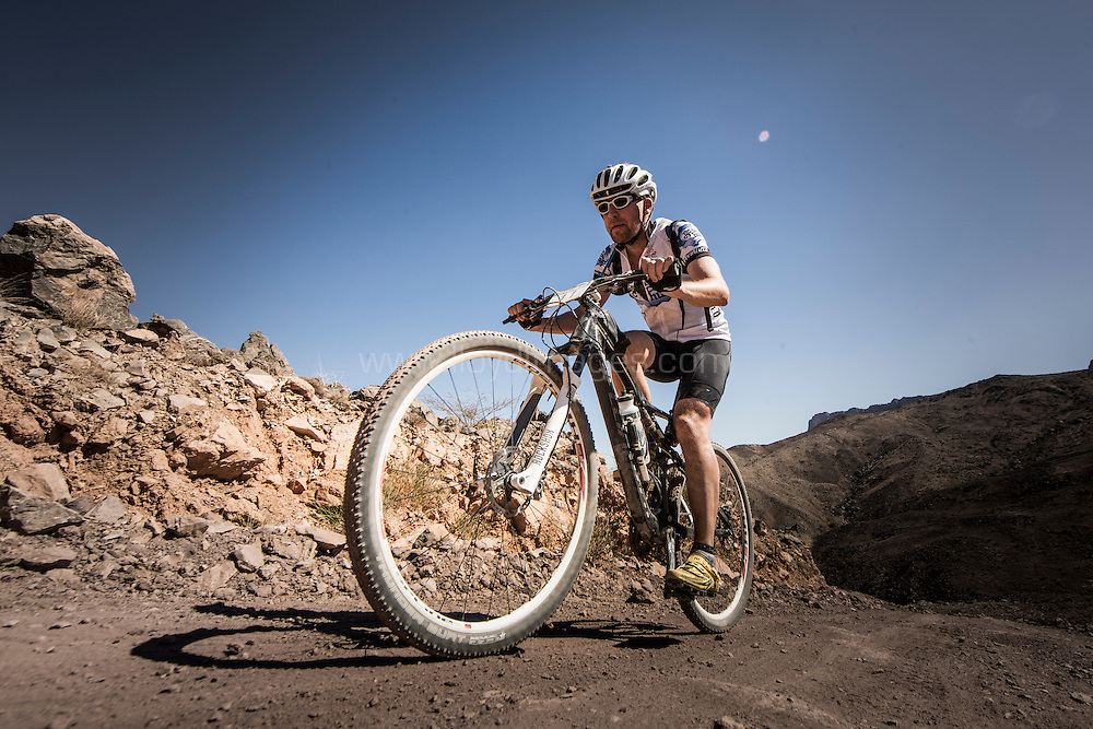 The Trans Hajar Mountain Bike Race 2015<br /> Stage 3 and the Tanouf Mountain and Al Hamra Plantation Credit: Lloyd Images