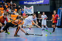 ROTTERDAM  - NK Zaalhockey,   halve finale heren Oranje Rood-SCHC (SCHC wint en plaatst zich voor de finale)  Max Sweering (SCHC)      COPYRIGHT KOEN SUYK