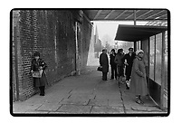 Bus stop, South East London, 1982. South-East London, 1982