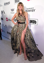Heidi Klum attending the Elton John AIDS Foundation Viewing Party held at West Hollywood Park, Los Angeles, California, USA.