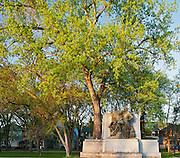 La Verendry Monument in park across the Saint Boniface Hospital. Saint Boniface<br /> Winnipeg<br /> Manitoba<br /> Canada