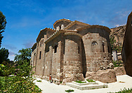"""Pictures & images of Guzelyurt Chuch Mosque, formely St Gregorius church,  9th century, the Vadisi Monastery Valley, """"Manastır Vadisi"""",  of the Ihlara Valley, Guzelyurt , Aksaray Province, Turkey.<br /> <br /> Guzelyurt Chuch Mosque, formely St Gregorius church is among the most beautiful early Christian buildings in Cappadocia.  Built in 385 by Emperor Theodosius it is dedicated to St Gregory of Nazianzus, a classically trained theologian. The original church has been altered into the Greek Cross floor plan of today. .<br /> <br /> If you prefer to buy from our ALAMY PHOTO LIBRARY  Collection visit : https://www.alamy.com/portfolio/paul-williams-funkystock/vadisi-monastery-valley-turkey.html<br /> <br /> Visit our TURKEY PHOTO COLLECTIONS for more photos to download or buy as wall art prints https://funkystock.photoshelter.com/gallery-collection/3f-Pictures-of-Turkey-Turkey-Photos-Images-Fotos/C0000U.hJWkZxAbg"""