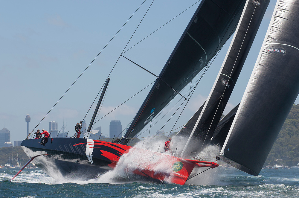 Race Start<br /> <br /> COMANCHE, Sail n: 12358, Bow n: 58, Design: Verdier Yacht Design & Vplp, Owner: Jim Clark & Kristy Hinze-Clark, Skipper: Ken Read