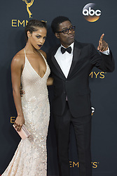 September 18, 2016 - Los Angeles, California, U.S. - CHRIS ROCK and girlfriend MEGALYN ECHIKUNWOKE arrive for the 68th Annual Primetime Emmy Awards, held at the Nokia Theatre. (Credit Image: © Kevin Sullivan via ZUMA Wire)