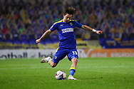 AFC Wimbledon midfielder Ethan Chislett (11) passing the ball during the EFL Trophy match between AFC Wimbledon and U21 Arsenal at Plough Lane, London, United Kingdom on 8 December 2020.