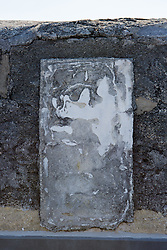 abstract of a side panel of The Castillo de San Marcos in St. Augustine, FL