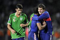 Fotball<br /> Irland v Frankrike<br /> Foto: DPPI/Digitalsport<br /> NORWAY ONLY<br /> <br /> FOOTBALL - FIFA WORLD CUP 2010 - PLAY OFFS - REPUBLIC OF IRELAND v  FRANCE - 14/11/2009<br /> <br /> Andre-Pierre Gignac - FRA<br /> Glenn Whelan - IRL