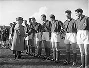 28/10/1953<br /> 10/28/1953<br /> 28 October 1953<br /> Soccer: Ireland v Luxemburg, World Cup Qualifier at Dalymount Park, Dublin. The Luxemburg team meet President Sean T. O'Kelly.