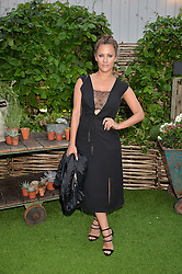 CAROLINE FLACK at a vintage fashion pop-up evening hosted by Dawn O'Porter at The Gardening Society, John Lewis, Oxford Street on 27th July 2016.