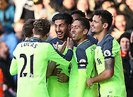 Liverpool's Emre Can celebrates scoring his sides third goal during the Premier League match at the Vitality Stadium, London. Picture date December 4th, 2016 Pic David Klein/Sportimage