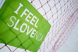 I Feel sLOVEnia flag during FIS World Cup Telemark Krvavec 2018, on February 8, 2018 in RTC Krvavec, Crklje na Gorenjskem, Slovenia. Photo by Urban Urbanc / Sportida