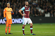 Andy Carroll of West Ham United looking on. Premier league match, West Ham Utd v Manchester city at the London Stadium, Queen Elizabeth Olympic Park in London on Wednesday 1st February 2017.<br /> pic by John Patrick Fletcher, Andrew Orchard sports photography.