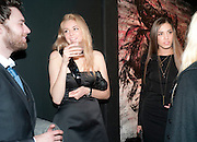 PETER MOONEY; TAMSIN EGERTON; AMBER LEBON, Richard Hambleton private view.- New York- Godfather of Street art presented by Vladimir Restoin Roitfeld and Andy Valmorbida in collaboration with Giorgio armani. The Old Dairy. London. 18 November 2010. -DO NOT ARCHIVE-© Copyright Photograph by Dafydd Jones. 248 Clapham Rd. London SW9 0PZ. Tel 0207 820 0771. www.dafjones.com.