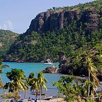 France, Guadeloupe, Les Saintes. The Baie du  Marigot on the island of Terre-de-Haut.