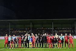 January 10, 2018 - Angers, France, France - joueurs des deux equipes - protocole (Credit Image: © Panoramic via ZUMA Press)