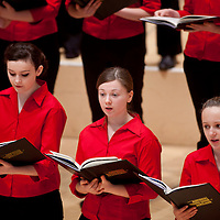 National Youth Choir of Scotland - The National Girls Choir . Pictured at The City Halls Glasgow. Easter 2012..Picture  © Drew Farrell....www.drewfarrell.com    Tel :  07721-735041.If you require any more information please contact Vicky Tibbett @The National Youth Choir of Scotland Tel : 0141 287 2856 . Note to Editors:  This image is free to be used editorially in the promotion of The National Youth Choir of Scotland. Without prejudice ALL other licences without prior consent will be deemed a breach of copyright under the 1988. Copyright Design and Patents Act and will be subject to payment or legal action, where appropriate.