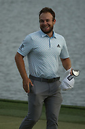Tyrrell Hatton (ENG) on the 18th during the final round of the Arnold Palmer Invitational presented by Mastercard, Bay Hill, Orlando, Florida, USA. 08/03/2020.<br /> Picture: Golffile   Scott Halleran<br /> <br /> <br /> All photo usage must carry mandatory copyright credit (© Golffile   Scott Halleran)