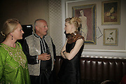 Stephen Berkoff and Cate  Blanchett, UK premiere for Pedro Almodovar's Volver. Curzon Mayfair and afterwards at the Mirabelle. London. 3 August 2006. ONE TIME USE ONLY - DO NOT ARCHIVE  © Copyright Photograph by Dafydd Jones 66 Stockwell Park Rd. London SW9 0DA Tel 020 7733 0108 www.dafjones.com