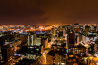 Skyline, Central Business District with Nelson Mandela Bridge, Johannesburg, South Africa.