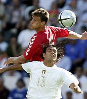 ◊Copyright:<br />GEPA pictures<br />◊Photographer:<br />Dominic Ebenbichler<br />◊Name:<br />Nesta<br />◊Rubric:<br />Sport<br />◊Type:<br />Fussball<br />◊Event:<br />Euro 2004, Europameisterschaft, EM, Italien vs Daenemark, ITA vs DEN<br />◊Site:<br />Guimaraes, Portugal<br />◊Date:<br />13/06/04<br />◊Description:<br />Ebbe Sand (DEN), Alessandro Nesta  (ITA)<br />◊Archive:<br />DCSDE-130604717<br />◊RegDate:<br />14.06.2004<br />◊Note:<br />9 MB - KA/KA - Gemaess UEFA keine Nutzungsrechte fuer Mobiltelefone, PDAs und MMS-Dienste - no MOBILE - no PDAs - no MMS