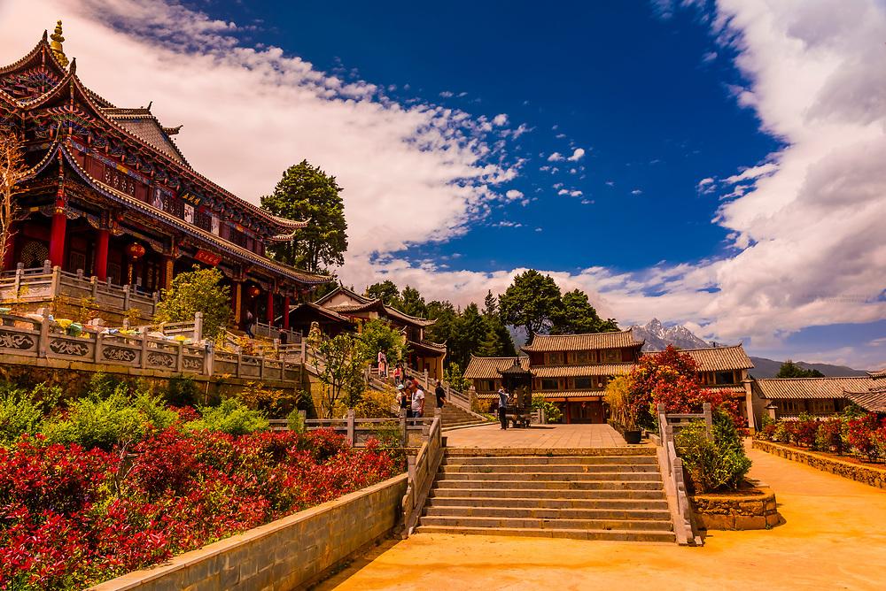 Fuguo Monastery, near Lijiang, Yunnan Province, China.