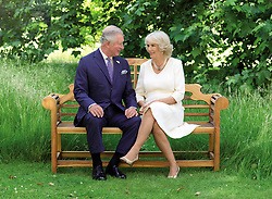 NOT FOR USE AFTER JANJUARY 31st 2019. The photo, taken by Hugo Burnand in the grounds of Clarence House, which is inside the 2018 Christmas card of the Prince of Wales and Duchess of Cornwall.