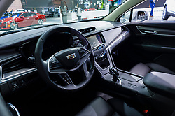 NEW YORK, USA - MARCH 23, 2016: Cadillac XT5 interior on display during the New York International Auto Show at the Jacob Javits Center.