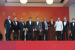 Giles Martin, Adam Bohling, Richard Madden, Director Dexter Fletcher, Taron Egerton, Sir Elton John, David Furnish, Kit Connor and Bryce Dallas Howard arriving on the red carpet of 'Rocketman' screening held at the Palais Des Festivals in Cannes, France on May 16, 2019 as part of the 72th Cannes Film Festival. Photo by Nicolas Genin/ABACAPRESS.COM