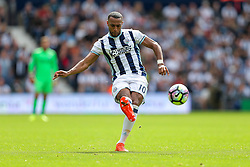 Matt Phillips of West Bromwich Albion shoots - Rogan Thomson/JMP - 28/08/2016 - FOOTBALL - The Hawthornes - West Bromwich, England - West Bromwich Albion v Middlesbrough - Premier League.