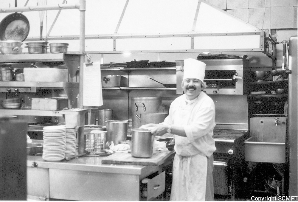 1979 Cook in the kitchen at Musso & Frank Grill