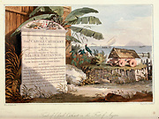 Tomb of Colonel Cathcart From the book A voyage to Cochinchina, in the years 1792 and 1793. To which is annexed an account of a journey made in the years 1801 and 1802, to the residence of the chief of the Booshuana nation by Sir John Barrow, 1764-1848 Published in London in 1806 by T. Cadell and W. Davies