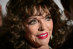 Joan Collins in the press room at the Virgin TV British Academy Television Awards 2017 held at Festival Hall at Southbank Centre, London. PRESS ASSOCIATION Photo. Picture date: Sunday May 14, 2017. See PA story SHOWBIZ Bafta. Photo credit should read: Matt Crossick/PA Wire
