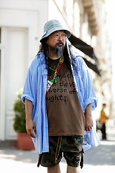Street style, Takashi Murakami arriving at Off White Spring-Summer 2019 menswear show held at Palais de Chaillot, in Paris, France, on June 20th, 2018. Photo by Marie-Paola Bertrand-Hillion/ABACAPRESS.COM