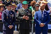 De drie Nederlandse Ridders van de Militaire Willemsorde tijdens het defile, Majoor Roy de Ruiter, Luitenant-kolonel Gijs Tuinman en Majoor Marco Kroon
