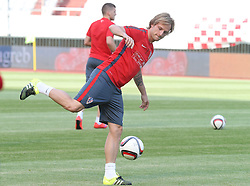 11.06.2015, Stadion Poljud, Split, CRO, UEFA Euro 2016 Qualifikation, Kroatien vs Italien, Gruppe H, Training Kroatien, im Bild Ivan Rakitic // during trainig of Team Croatia prior to the UEFA EURO 2016 qualifier group H match between Croatia and and Italy at the Stadion Poljud in Split, Croatia on 2015/06/11. EXPA Pictures © 2015, PhotoCredit: EXPA/ Pixsell/ Ivo Cagalj<br /> <br /> *****ATTENTION - for AUT, SLO, SUI, SWE, ITA, FRA only*****