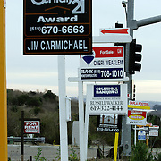 SAN DIEGO, CA- February 25, 2006:  Homes are sitting on the market longer as the nation's housing boom slows down in places like the once sizzling San Diego, California market. Even so new developments continue to dot the hillsides. (Photo by Todd Bigelow/Aurora)