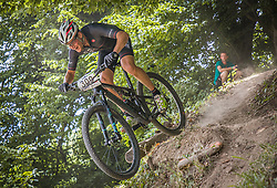 Tavcar Luka of Calcit Bike Team during the race of XCO National Championship of Slovenia 2021 on 27.06.2021 in Kamnik, Slovenia. Photo by Urban Meglič / Sportida