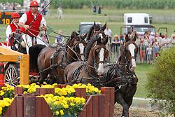 Wurgler Daniel, (SUI), Amando DW, Bismarck II, Jivago, Nando IX, Wiliam V<br /> CHIO Aachen 2010<br /> © Hippo Foto - Dirk Caremans